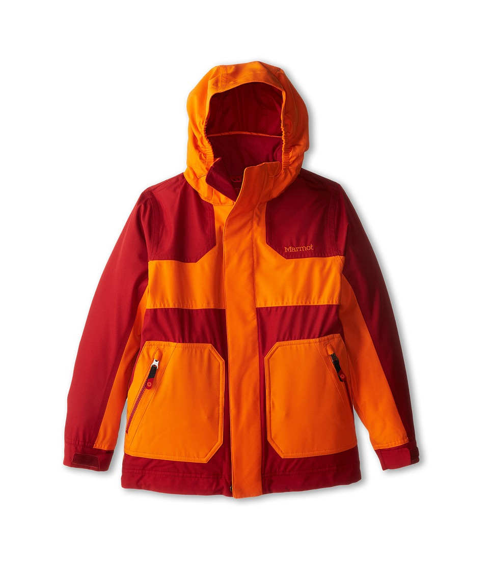 Marmot Kids - Boy's Storm Rider Jacket (Little Kids/Big Kids) (Vintage Orange/Dark Crimson) Boy's Jacket