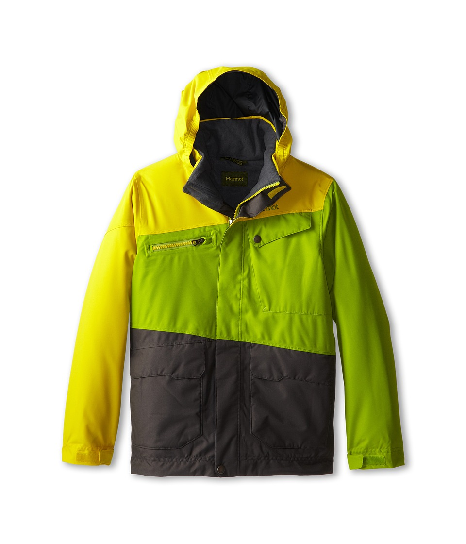 Marmot Kids - Boy's Space Walk Jacket (Little Kids/Big Kids) (Green Lichen/Yellow Vapor) Boy's Jacket