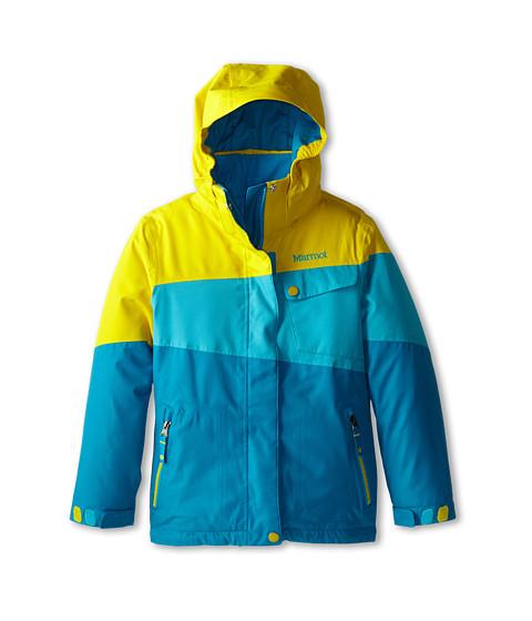 Marmot Kids - Girl's Moonstruck Jacket (Little Kids/Big Kids) (Aqua Blue/Yellow Vapor) Girl's Coat