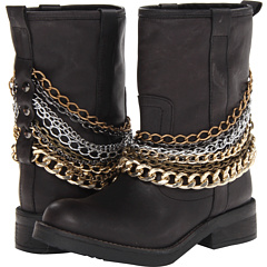 Steve Madden Mettal (Black Leather) Footwear