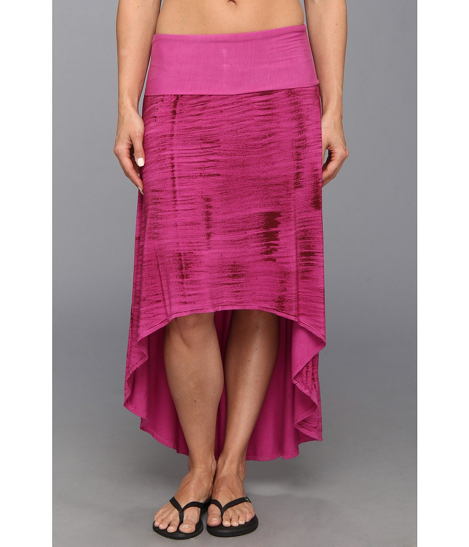 Pink Lotus - High Low Skirt (Plumeria) Women's Skirt