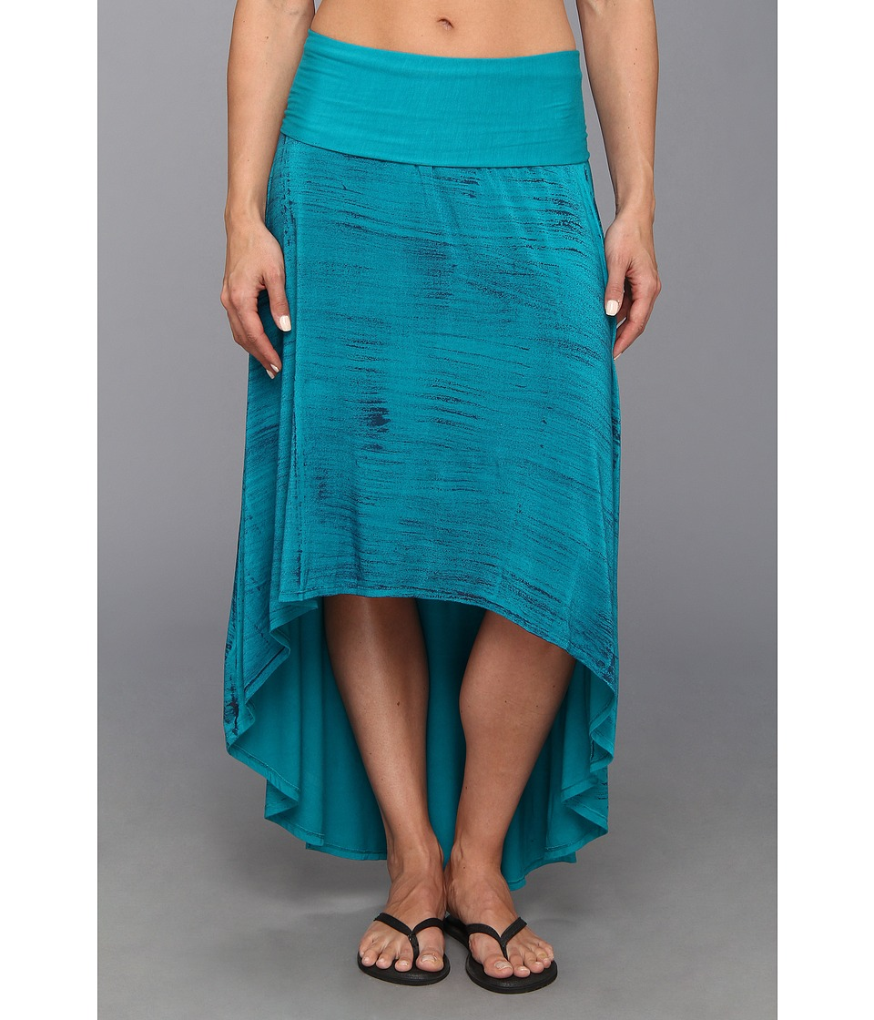 Pink Lotus - High Low Skirt (Turquoise) Women's Skirt