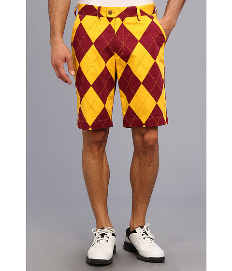 Loudmouth Golf - Burgundy Maize Short (Burgundy/Maize) Men's Shorts