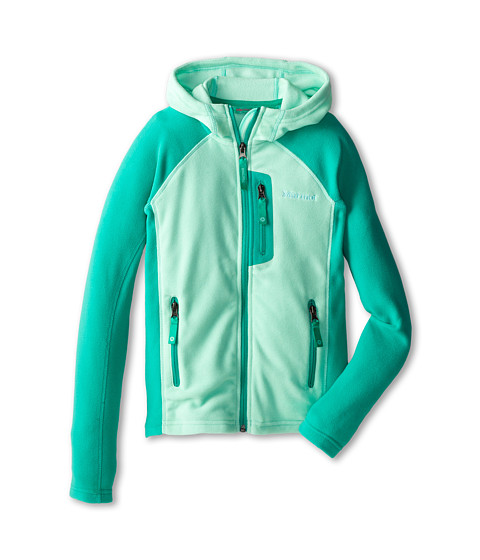 Marmot Kids - Girls' Sasha Hoody (Little Kids/Big Kids) (Ice Green/Lush) Girl's Sweatshirt