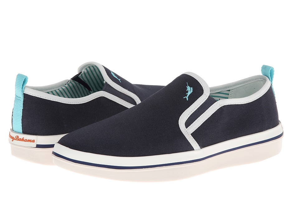Tommy Bahama - Relaxology Ryver Canvas (Navy) Men's Slip on Shoes