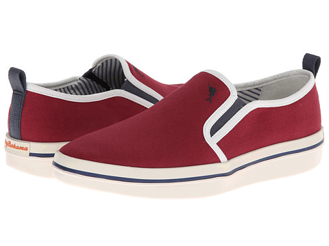 Tommy Bahama - Relaxology Ryver Canvas (Burgundy) Men's Slip on Shoes