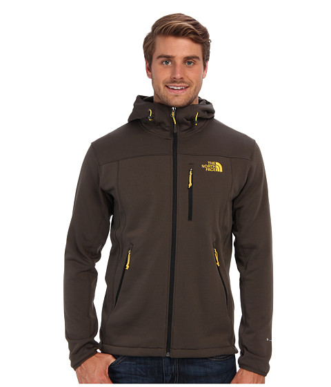 The North Face - Momentum Hoodie (Black Ink Green) Men