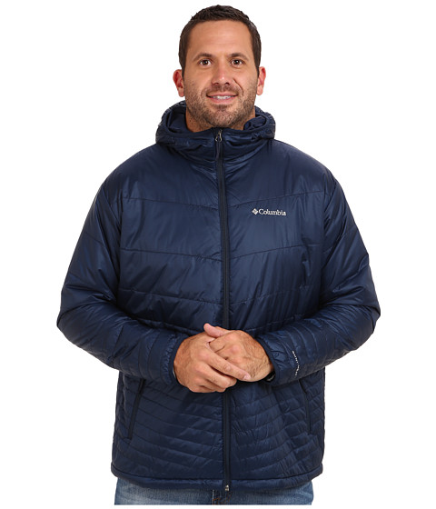 Columbia - Mighty Light Hooded Jacket - Extended (Collegiate Navy) Men