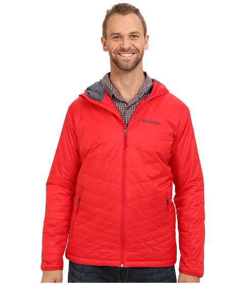 Columbia - Mighty Light Hooded Jacket - Extended (Bright Red) Men