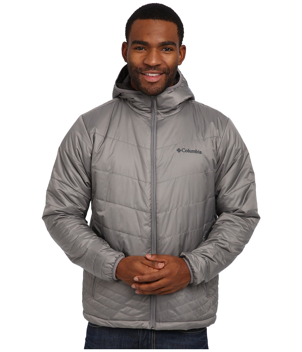 Columbia - Mighty Light Hooded Jacket (Boulder) Men's Jacket