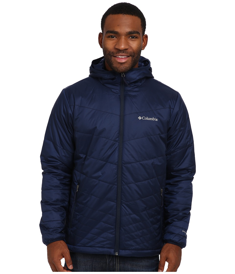 Columbia - Mighty Light Hooded Jacket (Collegiate Navy) Men's Jacket