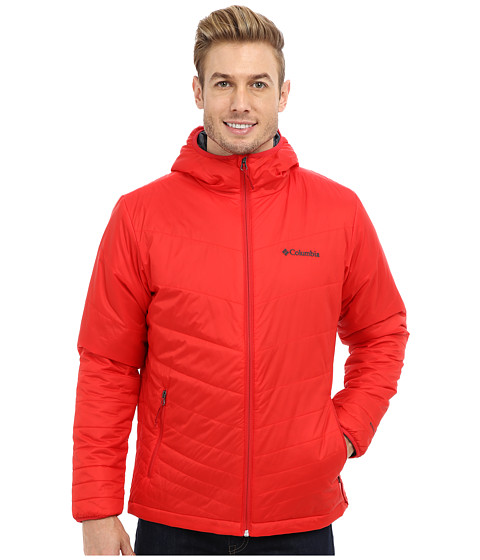 Columbia - Mighty Light Hooded Jacket (Bright Red) Men's Jacket