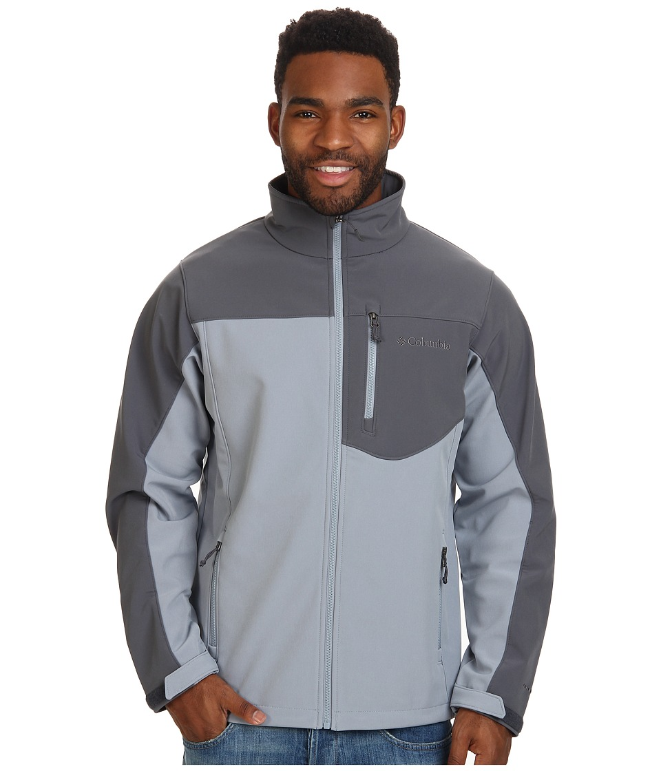 Columbia - Prime Peak Softshell Jacket (Tradewinds Grey/Graphite) Men's Coat