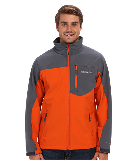 Columbia - Prime Peak Softshell Jacket (Backcountry Orange/Graphite) Men's Coat