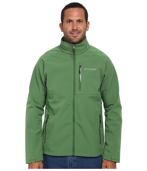 Columbia - Heat Mode II Softshell Jacket - Tall (Dark Backcountry/Dark Moss Pop) Men's Jacket