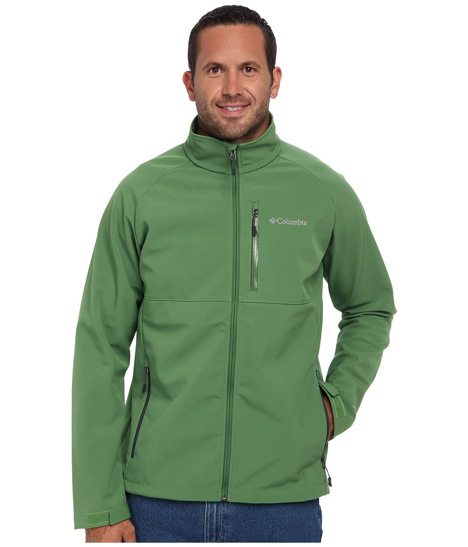 Columbia - Heat Mode II Softshell Jacket - Extended (Dark Backcountry/Dark Moss Pop) Men's Jacket