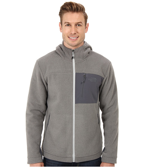 The North Face - Chimbarazo Full Zip Hoodie (High Rise Grey Heather) Men's Coat