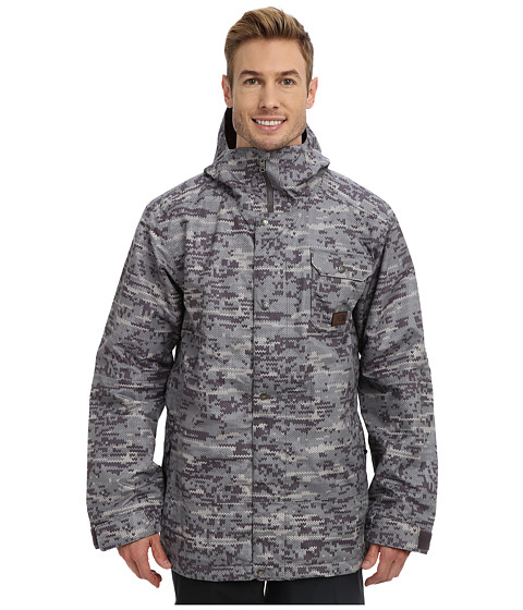 The North Face - Number Eleven Jacket (Graphite Grey Sweater Camo Print/Dachshund Brown) Men's Jacket