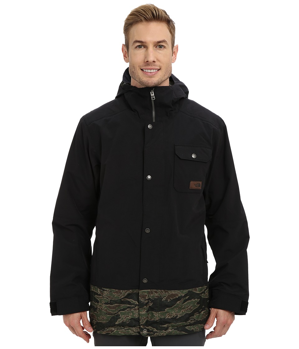 The North Face - Number Eleven Jacket (TNF Black/Forest Night Green JC Tiger Camo Print) Men