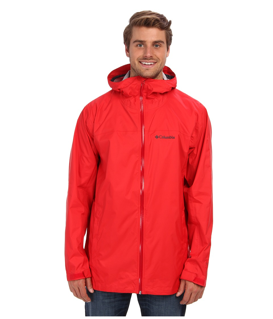 Columbia - EvaPOURation Jacket - Tall (Bright Red/Rocket Zip) Men