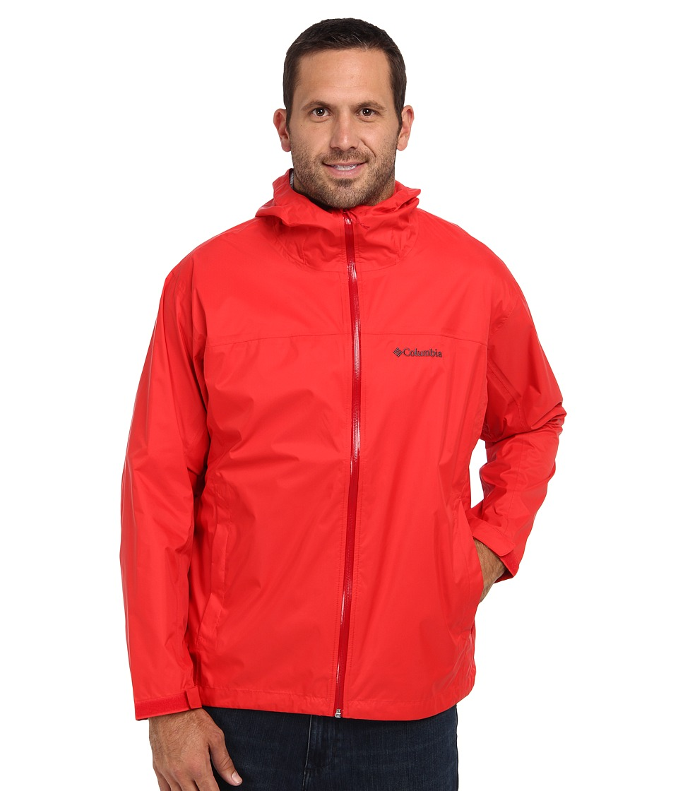 Columbia - EvaPOURation Jacket - Extended (Bright Red/Rocket Zip) Men
