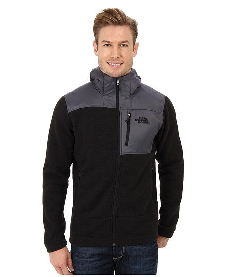 The North Face - Gordon Anza Full Zip Hoodie (TNF Black Heather) Men