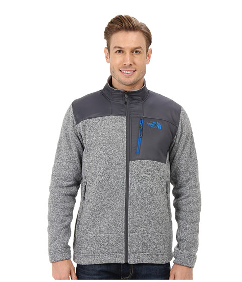 The North Face - Gordon Anza Full Zip (High Rise Grey Heather) Men's Coat