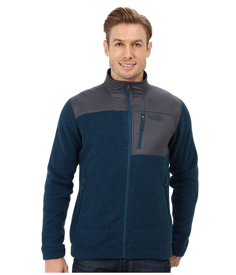 The North Face - Gordon Anza Full Zip (Monterey Blue Heather) Men