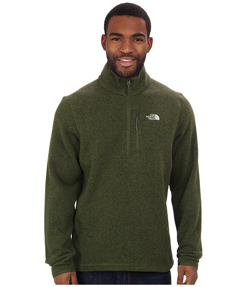 The North Face - Gordon Lyons 1/4 Zip (Scallion Green Heather) Men's Long Sleeve Pullover