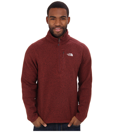 The North Face - Gordon Lyons 1/4 Zip (Cherry Stain Brown Heather) Men's Long Sleeve Pullover