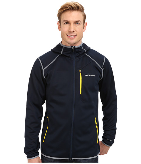Columbia - Helter Shelter Hooded Fleece Jacket (Collegiate Navy/Bright Yellow/Tradewinds Grey) Men