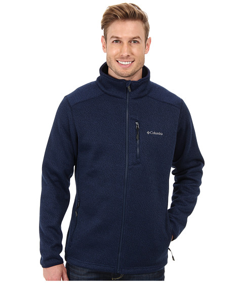 Columbia - Rebel Ravine Fleece Jacket (Carbon/Collegiate Navy) Men