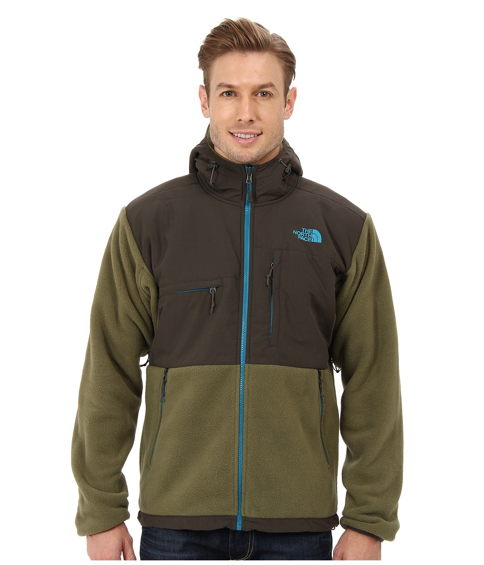 The North Face - Denali Hoodie (Recycled Burnt Olive Green/Black Ink Green) Men