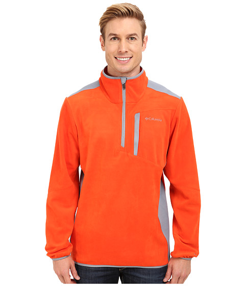 Columbia - Crosslight II Half-Zip Fleece (State Orange/Tradewinds Grey) Men's Jacket