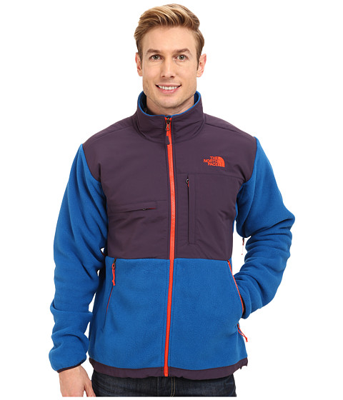 The North Face - Denali Jacket (Recycled Snorkel Blue/Dark Eggplant Purple) Men's Coat