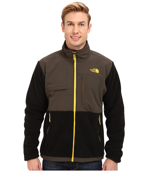 The North Face - Denali Jacket (Recycled TNF Black/Black Ink Green) Men's Coat