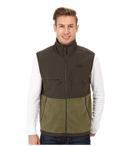 The North Face - Denali Vest (Recycled Burnt Olive Green/Black Ink Green) Men's Vest