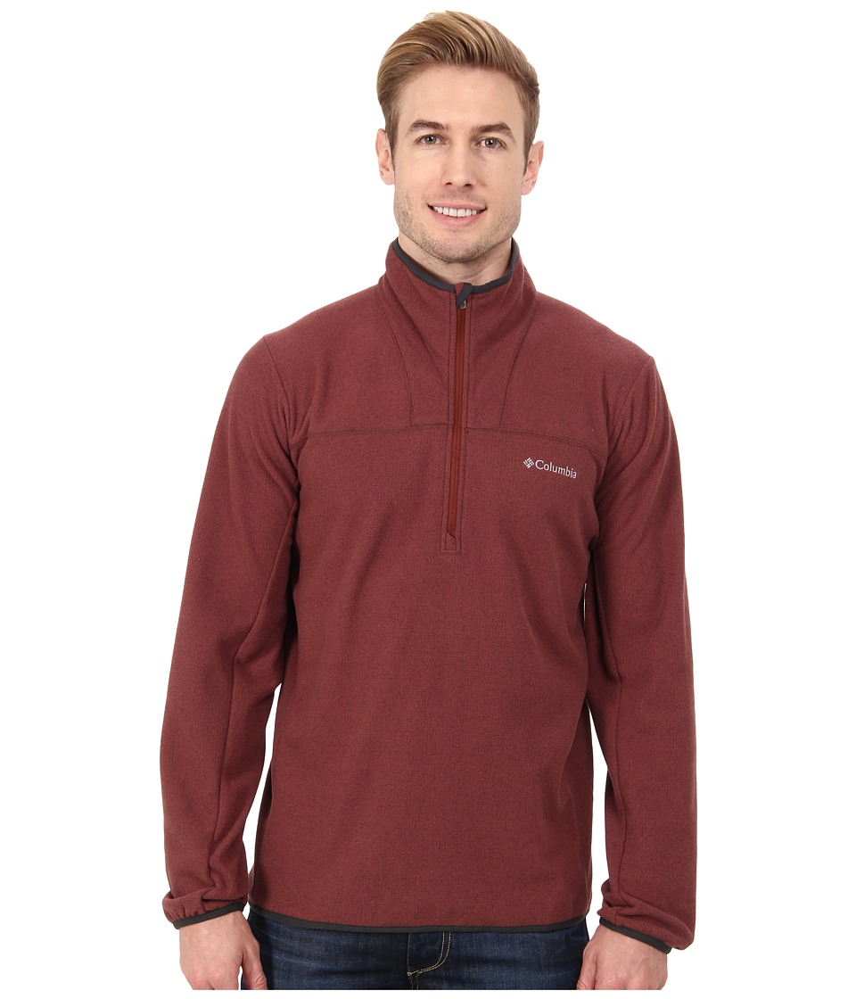 Columbia - Whiskey Creek Half-Zip Fleece (Red Rocks/Dark Moss) Men's Coat