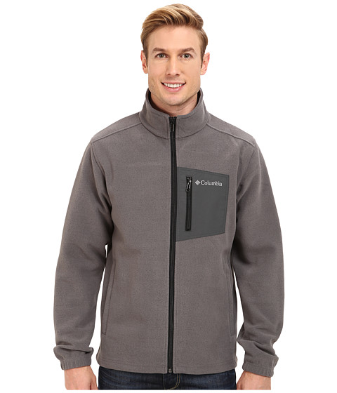Columbia - Hot Dots II Full Zip (Charcoal/Heather) Men's Jacket
