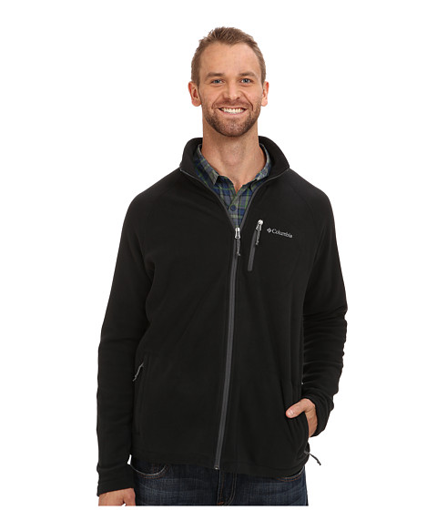 Columbia - Fast Trek II Full-Zip Fleece Jacket - Extended (Black/Grill 2) Men