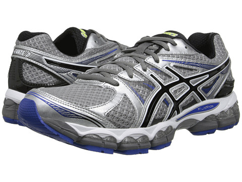 ASICS - Gel-Evate 2 (Titanium/Black/Blue) Men's Running Shoes