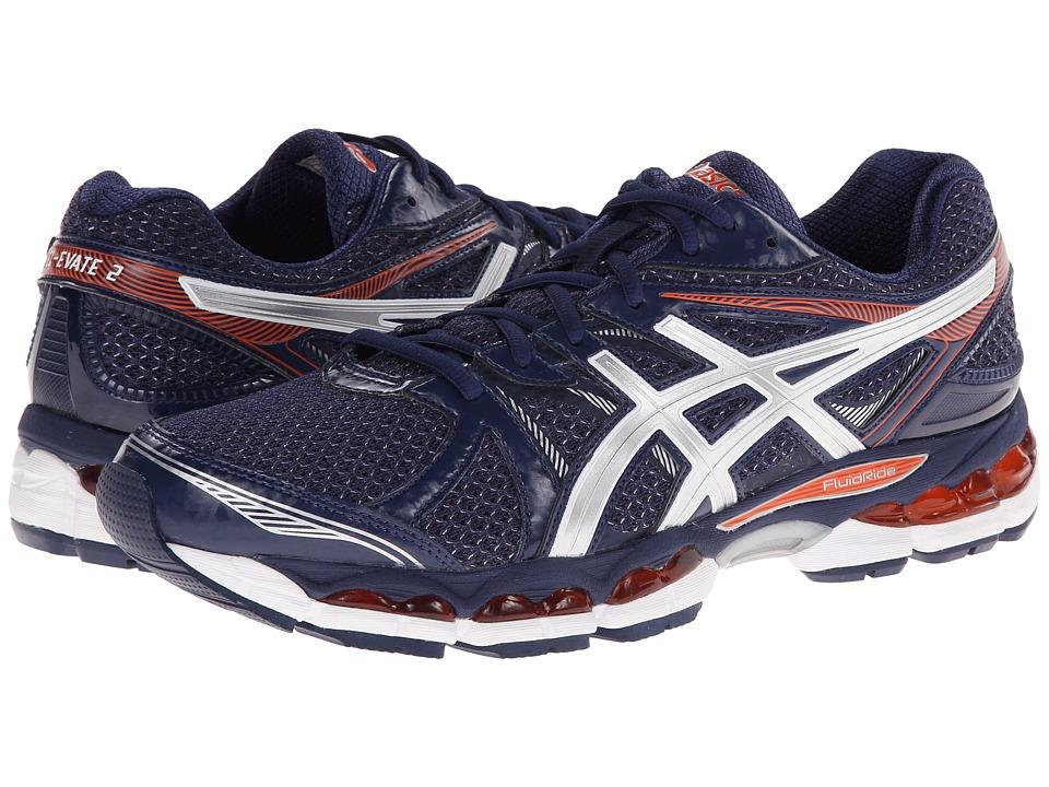 ASICS - Gel-Evate 2 (Navy/Lightning/Orange) Men's Running Shoes