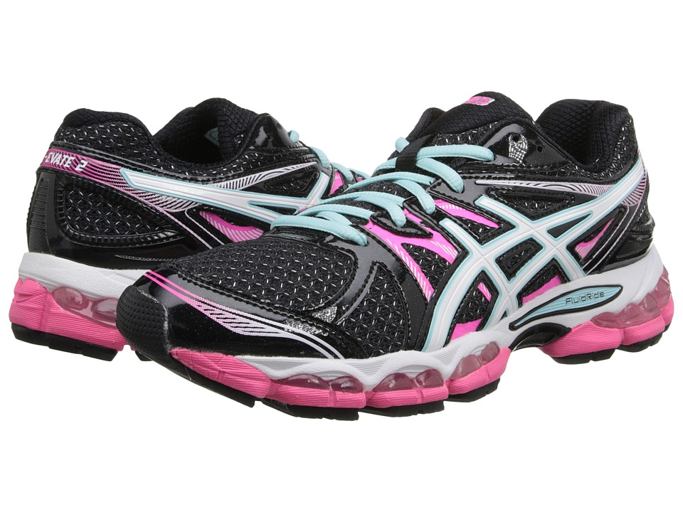 ASICS - Gel-Evate 2 (Black/White/Pink) Women's Running Shoes
