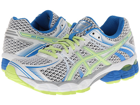 ASICS - GEL-Flux (White/Sharp Green/Blue) Women's Running Shoes