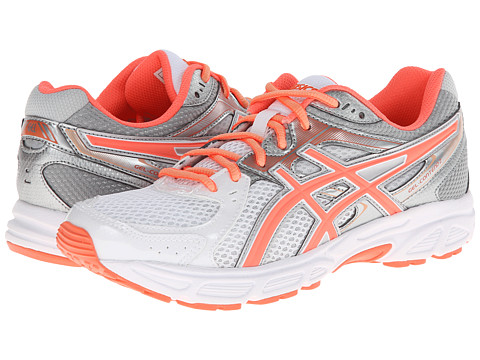 ASICS - GEL-Contend 2 (White/Coral/Silver) Women