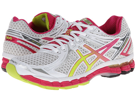 ASICS - GT-2000 2 (White/Lime/Raspberry) Women