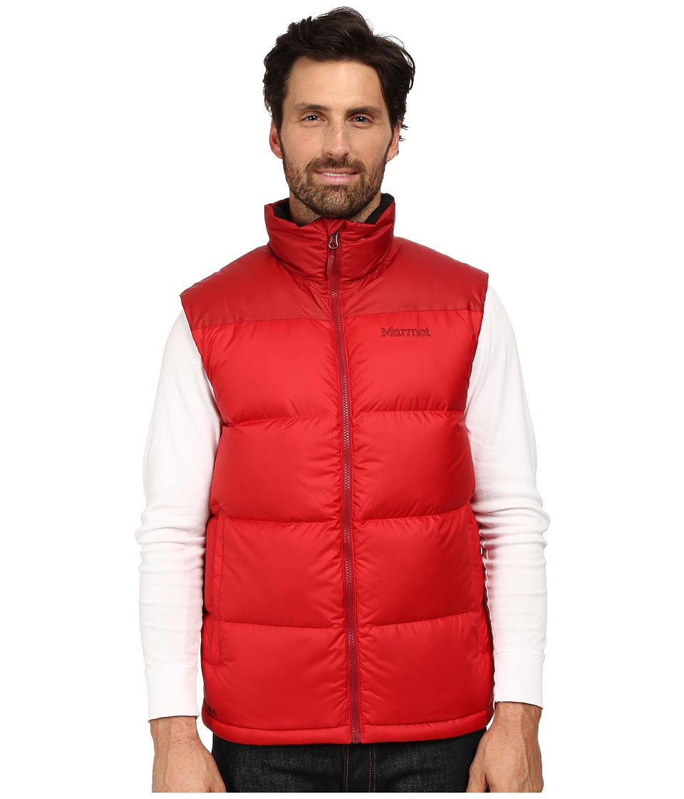 Marmot - Guides Down Vest (Team Red/Dark Crimson) Men's Clothing