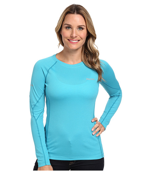 Marmot - ThermalClime Sport L/S Crew (Sea Breeze) Women