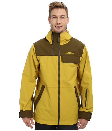 Marmot - Dark Rider Jacket (Green Mustard/Brown Moss) Men's Coat