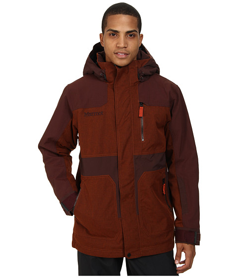 Marmot - Rail Jacket (Dark Rust/Red Night) Men